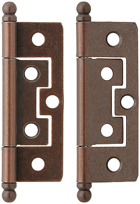 Pair Non Mortise Cabinet Hinges Ball Tips