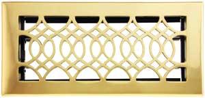 Strathmore Solid Brass Floor Register With Adjustable