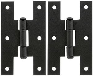 Pair Of Forged Iron Quot H Quot Style Cabinet Hinges 3 Quot H X 1 3