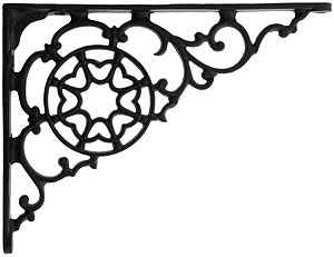 Black Iron Decorative Shelf Bracket 5 7 8 Quot X 7 7 8