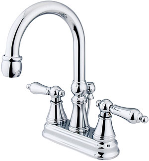 Bar Harbor Centerset Bathroom Faucet With American Levers House Of Antique Hardware