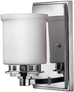Ashley Single Sconce In Polished Chrome House Of Antique