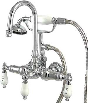 Bar Harbor Wall Mount Clawfoot Tub Faucet With Hand Shower
