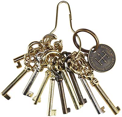 Ring of 10 Unique Barrel Keys For Cabinet & Furniture Locks - Ring Of 10 Unique Barrel Keys For Cabinet & Furniture Locks House