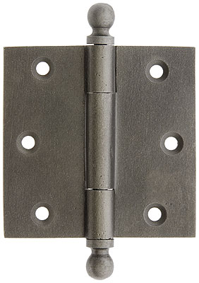 3 Quot Cast Iron Door Hinge With Ball Finials House Of