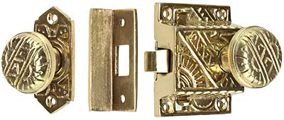 Eastlake Screen Door Latch Set Surface Mounted House