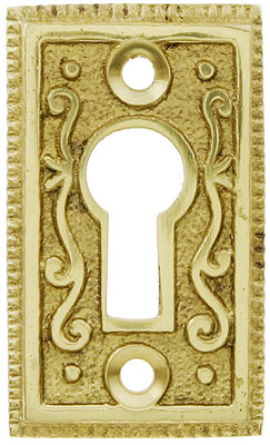 Solid Brass Ornate Keyhole Cover House Of Antique Hardware