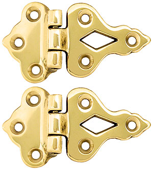 Pair Of Solid Cast Brass 3 8 Quot Offset Hinges House Of