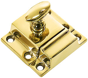 Small Cast Brass Cupboard Latch With Oval Turn Piece