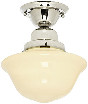 solid brass schoolhouse light with 9 shade house of antique hardware
