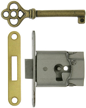 Polished Steel Full Mortise Drawer Or Cabinet Lock With