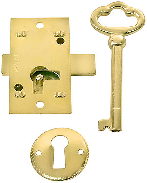 Small Brass Plated Non Mortise Cabinet Lock House Of