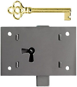 Large Polished Steel Non Mortise Cabinet Lock House Of