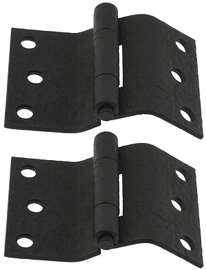 Pair Of Forged Iron Offset Mortise Shutter Hinges 4 Quot X 3