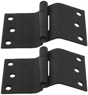 Pair Of Forged Iron Offset Mortise Shutter Hinges 5 Inch