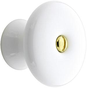 Extra Large White Porcelain Cabinet Knob 1 1 2 Quot Diameter