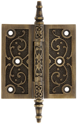 3 1 2 Quot Decorative Vine Pattern Hinge In Antique By Hand