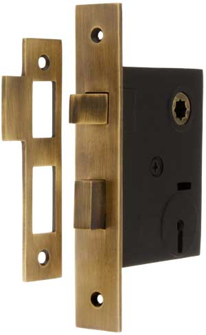 Mortise Lock With Solid Brass Faceplate 2 1 4 Quot Backset