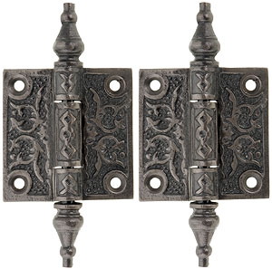Pair Of Decorative Cast Iron Cabinet Hinges 2 Quot X 2