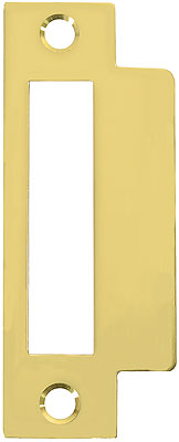Large Brass Plated Replacement Strike Plate 4 7 8 Quot X 1 1