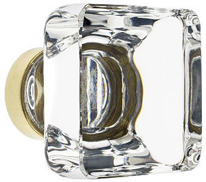 Lido Crystal Glass Cabinet Knob 1 3 8 Quot Square House Of