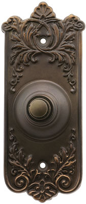 Lorraine Pattern Doorbell Button In Oil Rubbed Bronze