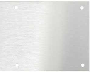 Stainless Steel Kick Plate With Brushed Finish House Of