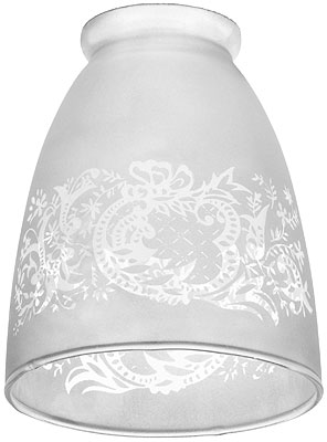 Rococo Pattern Glass Shade With 2 1 4 Quot Fitter House Of