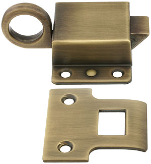 Solid Brass Transom Window Latch In Antique By Hand