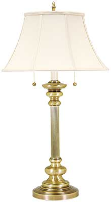 Newport Table Lamp With Twin Pull Chains House Of Antique Hardware