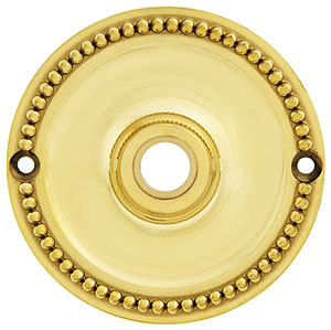 3 1 4 Quot Beaded Brass Rosette For Pre Drilled Doors House
