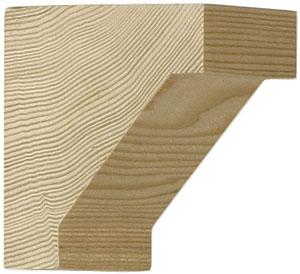 Small Hemlock Craftsman Corbel 2 3 4 Quot X 2 3 4 Quot X 1 1 2
