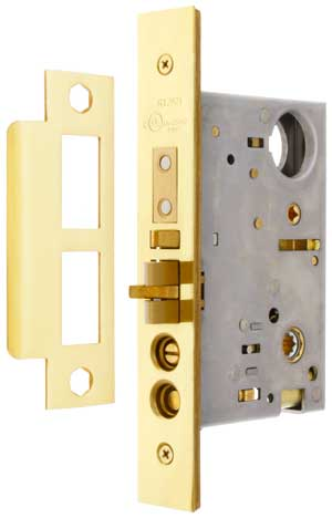 "2-1//4/"" X 7/"" Knob Hole And Thumb Turn For Marks Surface Mount Mortise Lock"