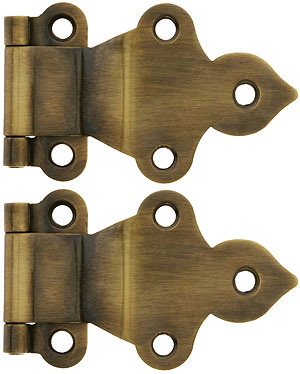 Pair Of Gothic Quot Fold Over Quot Offset Cabinet Hinges In