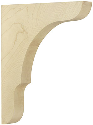 Large Maple Shelf Bracket 11 Quot X 9 Quot X 1 1 2 Quot House Of