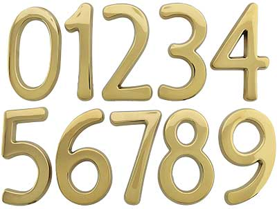 Solid-Brass ... - Solid-Brass House Numbers - 4