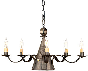 Sturbridge punched tin 5 light chandelier with blackened tin finish sturbridge punched tin 5 light chandelier with blackened tin finish mozeypictures Image collections
