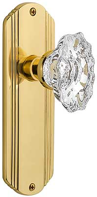 Streamline Deco Door Set With Chateau Crystal Glass Knobs