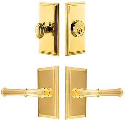 Grandeur Carre Entry Door Set With Georgetown Levers House Of