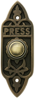 Edwardian Quot Press Quot Doorbell Button In Antique Brass House