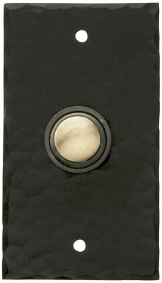 Hammered Craftsman Style Doorbell Button In Oil Rubbed