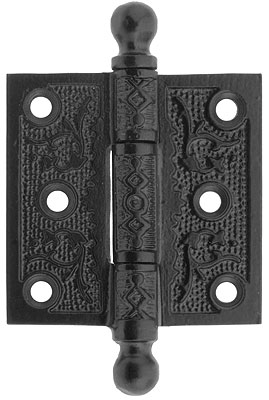 2 1 2 Quot Cast Iron Ball Tip Hinge With Decorative Vine