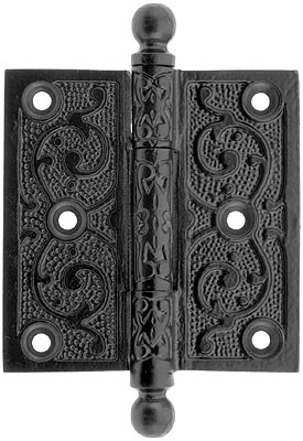 3 1 2 Quot Cast Iron Ball Tip Hinge With Decorative Vine