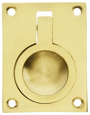 Solid Brass Flush Mount Ring Pull 2 1 2 Quot X 1 7 8
