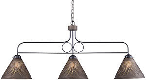 Franklin 3 Light Punched Tin Pendant With Choice Of Finish