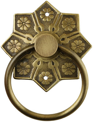 Eastlake Star Pattern Ring Pull In Antique By Hand House