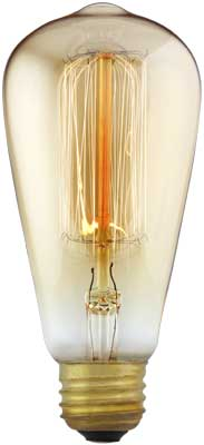 Squirrel Cage Tungsten Filament Light Bulb 30 Watt