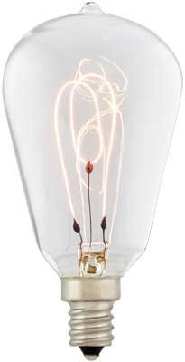 Small Tapered Carbon Filament Light Bulb 15 Watt House