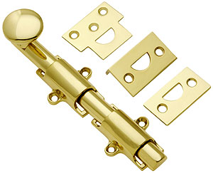 6 Quot Traditional Style Surface Door Bolt In Solid Brass