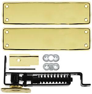 Heavy Duty Swinging Door Floor Hinge With Solid Brass Cover Plates